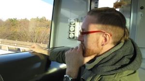 Crave contemplates riding his 430th coaster.
